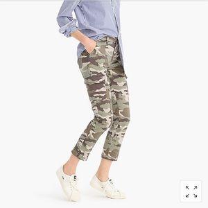 J. Crew women's high-waisted stretch camo pant